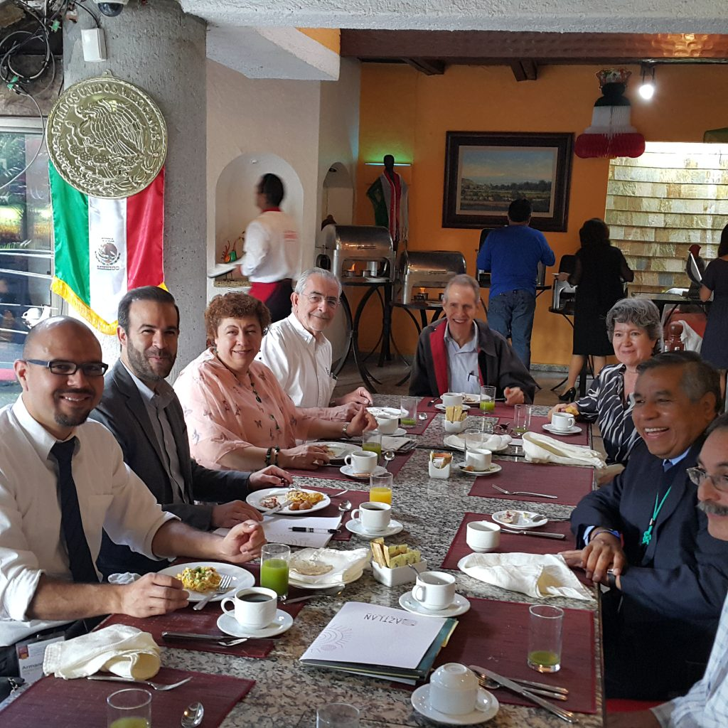 Desayuno de arranque con la presencia de altos mandos del ININ, del IIE, de la CNLV y de la CNSNS.