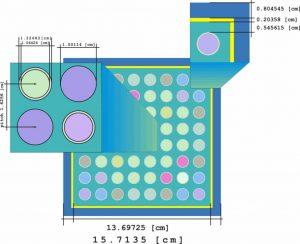 Esquema del modelo simulado de celda de combustible.