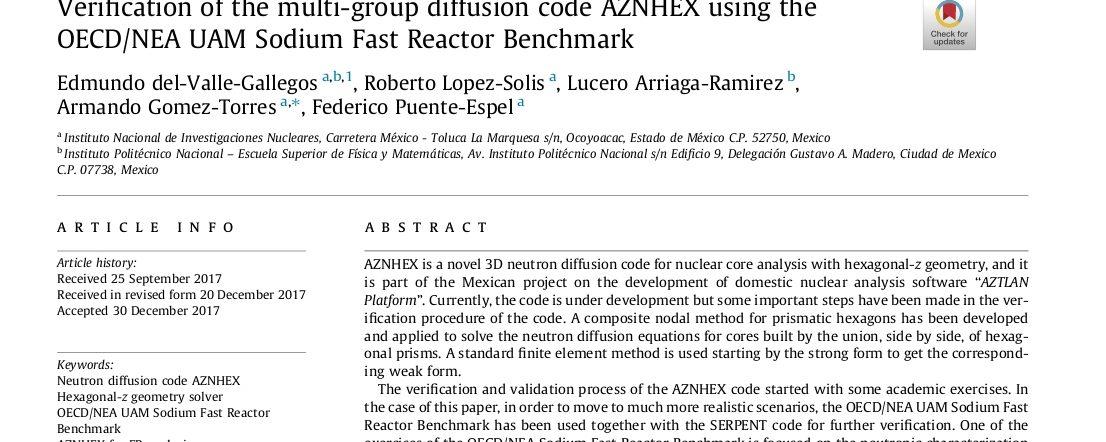 AZNHEX fast reactors